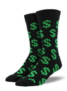 Socksmith Men's Cha Ching Socks, Black