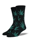 Socksmith Men's Pot Leaves Socks, Black
