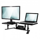 Allsop 31883 Metal Art ErgoTwin Height Adjustable Dual Monitor Stand