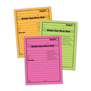 Adams Neon While You Were Out Pads, 50 Sheet(s) - Gummed - 5