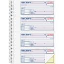 Adams Wire Bound Money/Rent Receipt Books, 200 Sheet(s) - Spiral Bound - 2 Part - 2.75