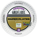 AJM Packaging Paper Dinnerware, AJMCP9GOEWH