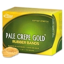 Pale Crepe Gold Rubber Band, Size: #12 - 1.75