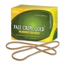 Pale Crepe Gold Rubber Band, Size: #117B - 7