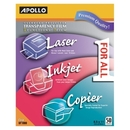 Apollo Transparency Film, For Laser Print - Letter - 8.50