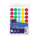 Avery See-Through Color Dots Label, 0.75