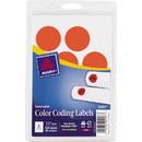 Avery Round Color Coding Multipurpose Label, 1.25