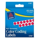 Avery Round Color Coded Label, 0.25