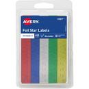 Avery Self-Adhesive Foil Stars, Star - 0.5