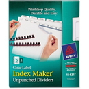 Avery Index Maker Clear Label Divider, 5 x Tab - Blank - 8.50