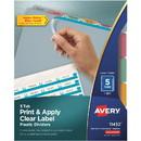 Avery Index Maker Translucent Clear Label Divider, 5 x Divider - Blank - 5 Tab(s)/Set - 8.50