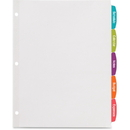 Avery Big Tab White Label Tab Dividers, AVE14432