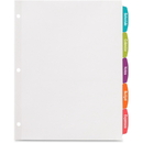 Avery Big Tab White Label Tab Dividers, AVE14434