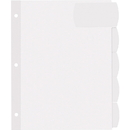 Avery Big Tab Large White Label Tab Dividers, AVE14440