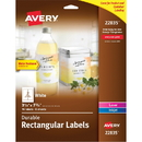 Avery Durable Water-resistant Labels, AVE22835