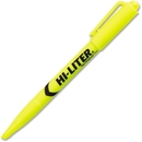 Avery Hi-Liter Fluorescent Pen Style Highlighter, Chisel Marker Point Style - Fluorescent Yellow Ink - Yellow Barrel - 12 / Dozen