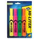 Avery Hi-Liter Desk Style Highlighters, Chisel Marker Point Style - Yellow, Pink, Orange, Green Ink - Green, Orange, Pink, Yellow Barrel - 4 / Set