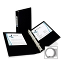 Avery Round Ring Binder with Label Holder, 1