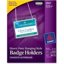 Avery Flexible Badge Holder, Horizontal - 100 / Box - Clear