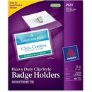 Avery Photo ID Badge Holder, Horizontal - 100 / Box - Clear