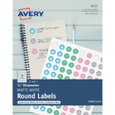 Avery Matte White Print-to-Edge Round Labels, AVE4221