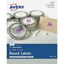 Avery Clear Glossy Print-to-the-Edge Round Labels, AVE4222