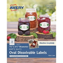 Avery Oval Dissolvable Labels, AVE4223