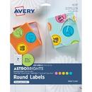 Avery Astrobrights Color Easy Peel Labels, AVE4330