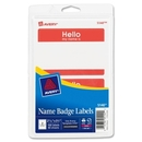 Avery Name Badge Label, 2.34