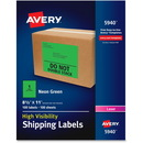 Avery High-Visibility Neon Shipping Labels