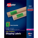 Avery High Visibility Neon Shipping Labels, AVE5954