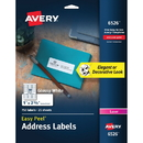 Avery Easy Peel High Gloss White Mailing Labels, AVE6526