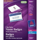 Avery Clip-style Name Badges, Avery Clip-style Name Badges