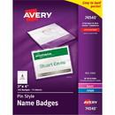 Avery Laser/Inkjet Pin Style Name Badge Kit, Avery Laser/Inkjet Pin Style Name Badge Kit, AVE74540