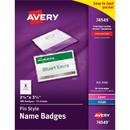 Avery Laser/Inkjet Pin Style Name Badge Kit, Avery Laser/Inkjet Pin Style Name Badge Kit, AVE74549