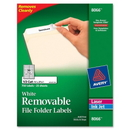 Avery Removable Filing Labels, 0.66