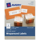 Avery Textured White Print-to-the-Edge Wraparound Address Labels, AVE8217