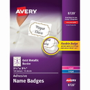 Avery Metallic Border Adhesive Name Badges, AVE8720