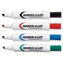 Avery Marks-A-Lot Dry Erase Marker, Chisel Marker Point Style - Black, Blue, Green, Red Ink - 24 / Pack
