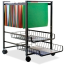 Advantus Mobile File Cart, 4 Caster - Steel - 16