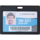 Advantus Horizontal Rigid ID Badge Holder, AVT97065