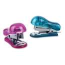 Baumgartens Translucent Plastic Mini Stapler, Assorted