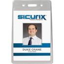 Baumgartens Proximity Badge Holder, Vertical - Vinyl - 50 / Pack - Clear