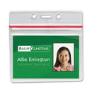Baumgartens Sealable ID Badge Holder, Horizontal - Vinyl - 50 / Pack - Clear