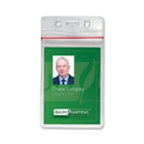 Baumgartens Sealable ID Badge Holder, Vertical - Vinyl - 50 / Pack - Clear