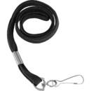 Baumgartens Shoelace-style Flat Hook Lanyard, Black