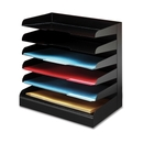Buddy Desktop Organizer, 6 Tier(s) - Steel - Black
