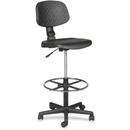 Balt Trax Drafting Chair, Black - Urethane Seat - Urethane Back - 18.5