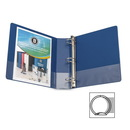 Business Source Basic Round Ring Binder with Pockets