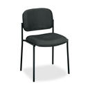 Basyx by HON VL606 Armless Guest Chair, Charcoal Seat - Black Frame - 21.5